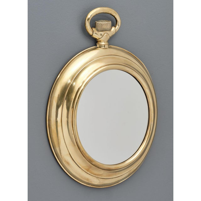 Vintage Brass Pocket Watch Mirror For Sale In Austin - Image 6 of 10