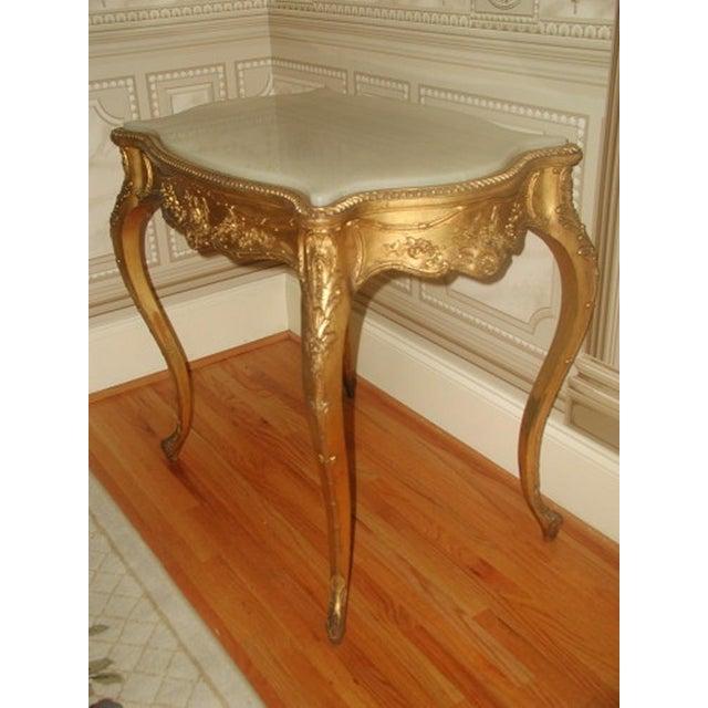 1850s French Regency Gilt & Alabaster Table For Sale - Image 4 of 8
