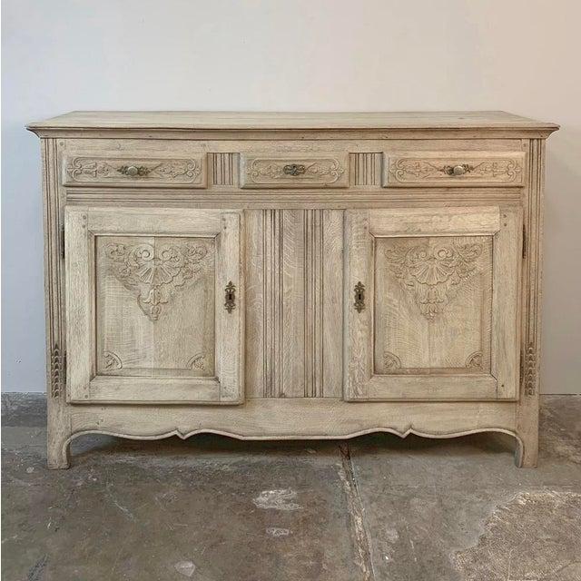 19th Century Rustic Regence Stripped Oak Buffet For Sale - Image 4 of 12