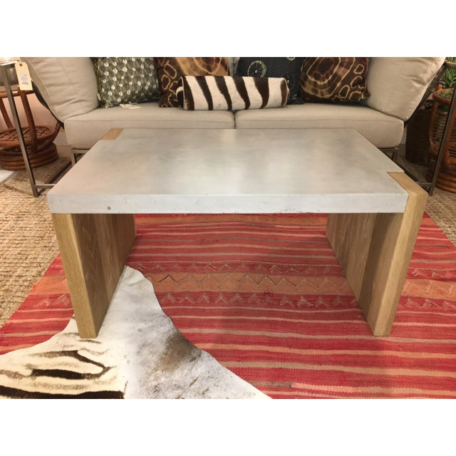Gray Concrete Top Coffee Table For Sale - Image 8 of 8