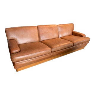 Arne Norell Vintage Leather Merkur Sofa in Cognac Leather, 1970s For Sale
