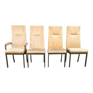 Milo Baughman Style Highback Chromcraft Dining Chairs - Set of 4