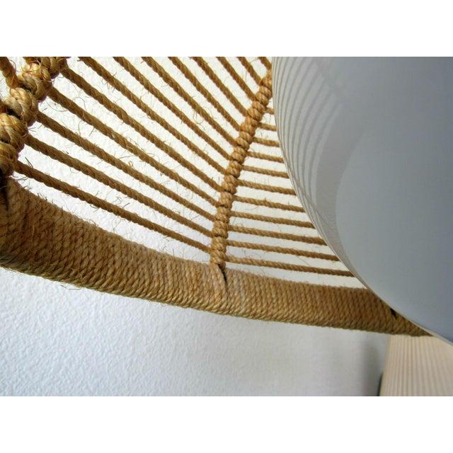 Mid-Century Modern Midcentury Danish Jute Cord Chandelier For Sale - Image 3 of 8