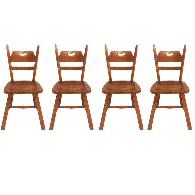 Cushman Vermont Maple Dining Chairs by Herman DeVries - Set of 6 For Sale In New York - Image 6 of 13