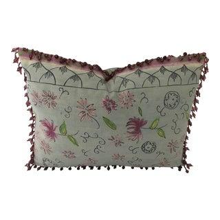 "Custom Osborne & Little Light Mint Green Fabric Pillow 18.5"" X 12.5"" For Sale"