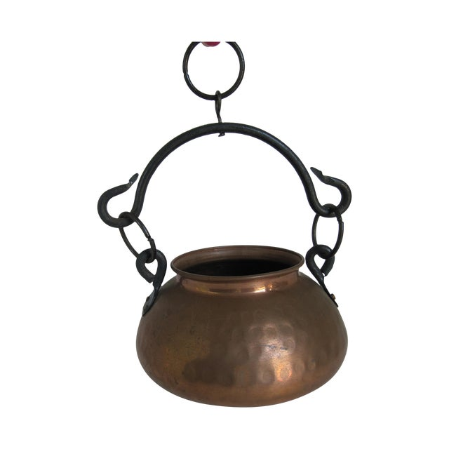 Hanging Turkish Copper Pot - Image 1 of 6