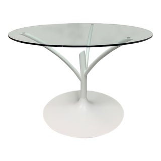 Calligaris Acacia Round Glass Table For Sale