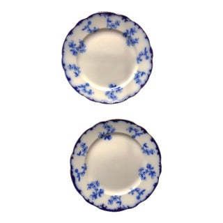 Ridgeways Rococo Flow Blue Plates - a Pair For Sale