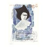 """Image of Ben Shahn Spoleto Festival 39.25"""" X 27.5"""" Poster 1965 Modernism Blue For Sale"""