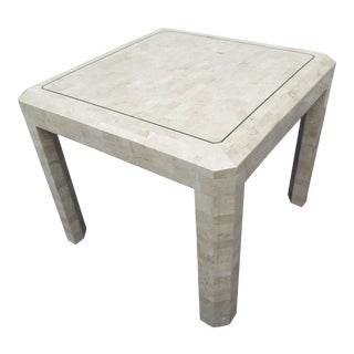 Maitland-Smith Tessellated Coral Stone Side Table For Sale