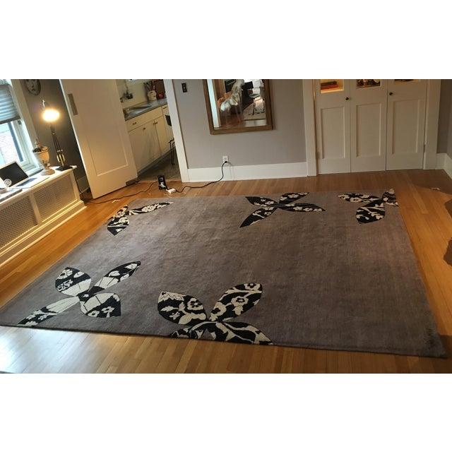 Madeline Weinrib Putty Lark Tibetan Wool Rug - 7′10″ × 10′1″ - Image 5 of 9