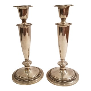 Sterling S. Kirk and Son Scrolled Ribbon Pattern Candelabras - a Pair For Sale