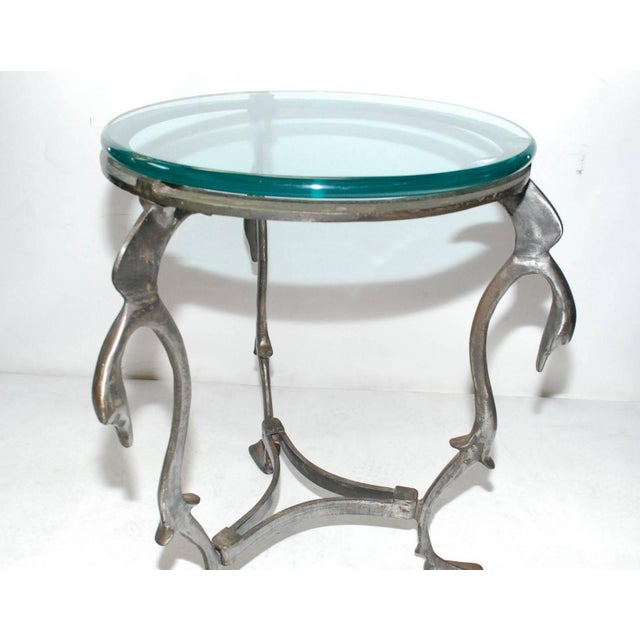 Iron Swan Gueridon Table For Sale In Los Angeles - Image 6 of 8