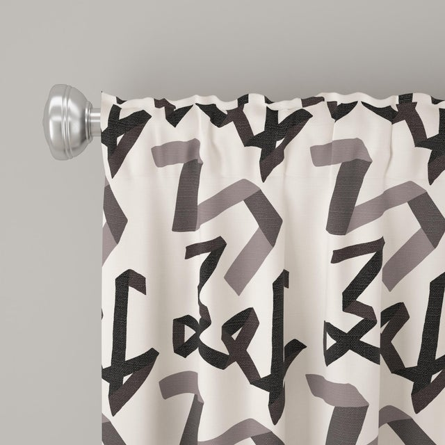 "Angela Chrusciaki Blehm 84"" Curtain in Black Ribbon by Angela Chrusciaki Blehm for Chairish For Sale - Image 4 of 7"