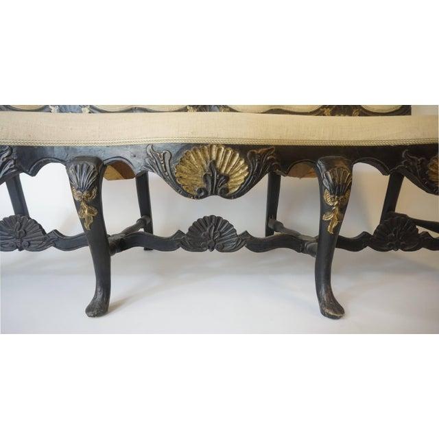 Wood Norwegian Rococo Settee, Circa 1750 For Sale - Image 7 of 11