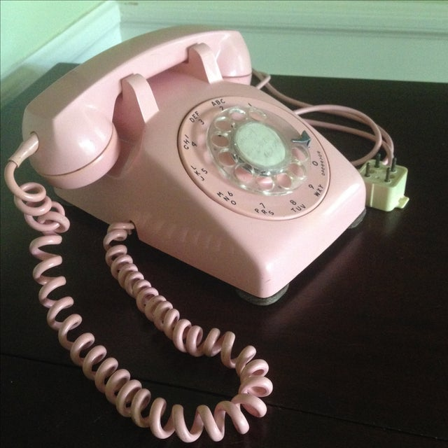 Vintage Pink Rotary Dial Telephone - Image 11 of 11