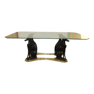 Vintage Maitland Smith Whippet, Brass and Bronze Coffee Table