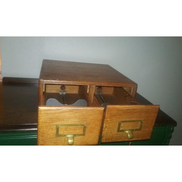Early 20th Century Early Twentieth Century Wooden Library Card Catalog For Sale - Image 5 of 13