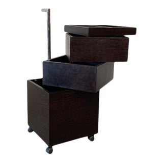 Mid 20th Century Armani Casa Rotating Storage Chest With Castors For Sale