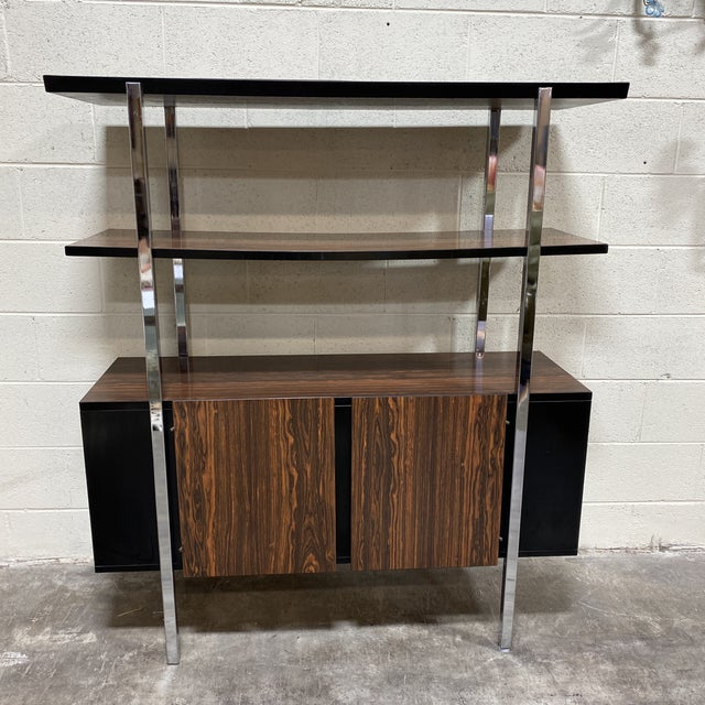 Mid Century Two Tier Chrome Shelf Cabinet For Sale - Image 12 of 12