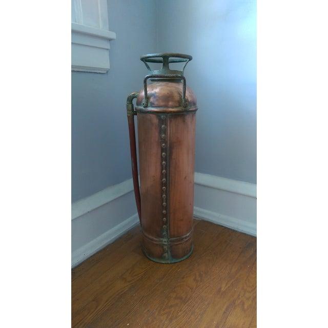 """Vintage """"Alert"""" Copper Fire Extinguisher - Image 4 of 5"""