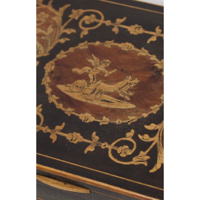 19th Century French Inlay Wooden Box For Sale - Image 10 of 13