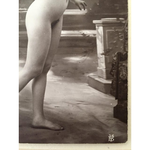 Antique French Studio Nude Female Photograph C1900 For Sale - Image 4 of 6