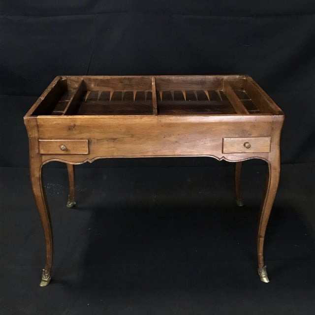19th Century Antique Walnut Game or Side Table For Sale - Image 9 of 12