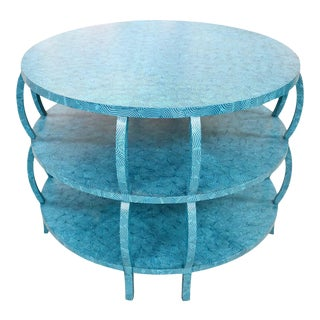 Custom Blue Round Table For Sale