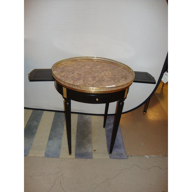 French Louis XVI Style Bouillotte End Tables - A Pair For Sale - Image 3 of 11