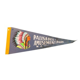 Palisades Amusement Park NJ Felt Flag For Sale