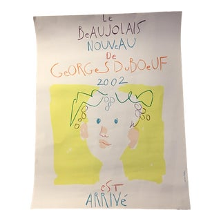 George Du Boeuf Lithographic Traquandi Hand Signed Poster For Sale