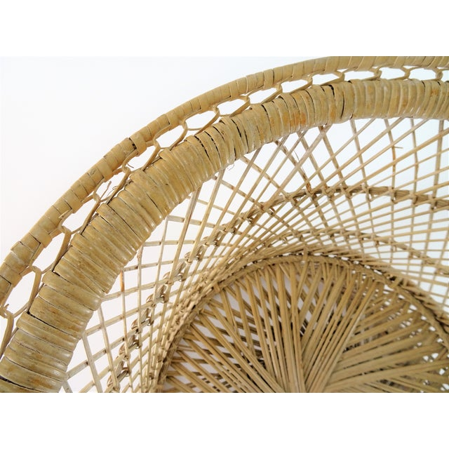 20th Century Boho Chic Woven Plant Stand For Sale In Seattle - Image 6 of 8