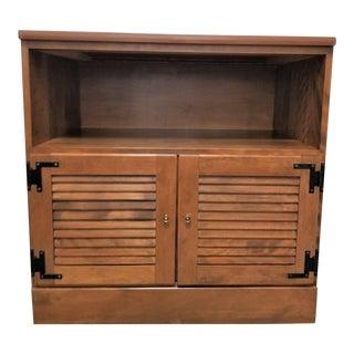 Vintage Ethan Allen Maple Cabinet For Sale