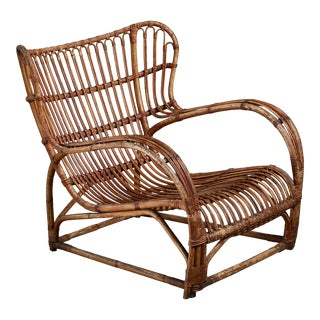 Viggo Boesen Bamboo Lounge Chair for e.v.a. Nissen, Denmark, 1930s For Sale