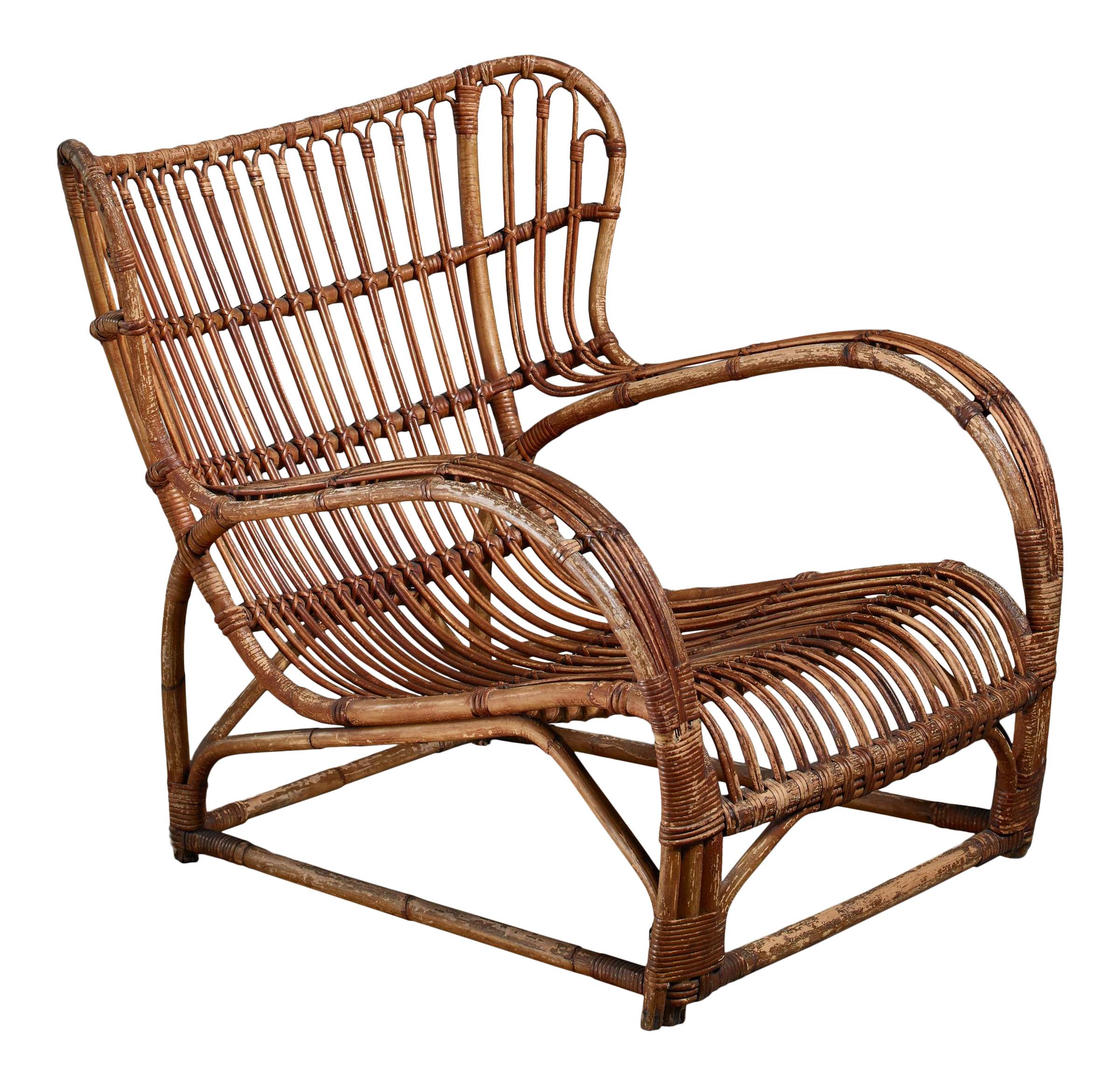 Viggo Boesen Bamboo Lounge Chair For E.v.a. Nissen, Denmark, 1930s   Image  1 Of