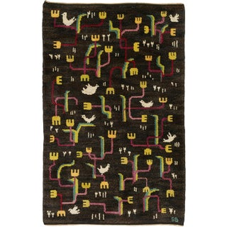 Mid 20th Century Swedish Pile Rug by Sigvard Bernadotte- 4′6″ × 6′10″ For Sale