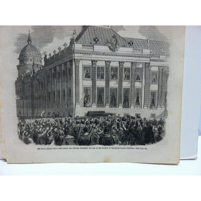 """This is an Antique Original Print from The Illustrated London News that is titled """"The Royal Bridal Tour"""" and is dated..."""