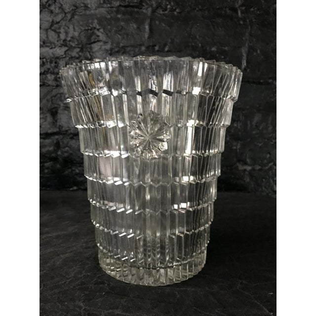 1930s Art Deco Cut Glass Ice Bucket For Sale - Image 4 of 8