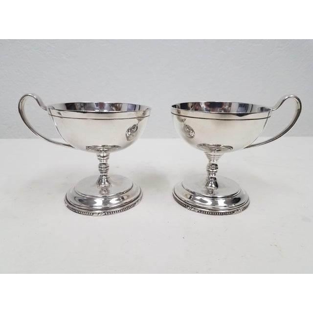 Antique English Mappin and Webb Silverplate Sorbet Dessert Cups - a Pair For Sale In Dallas - Image 6 of 6