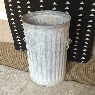 Vintage Galvanized Metal Barrel Bucket Preview