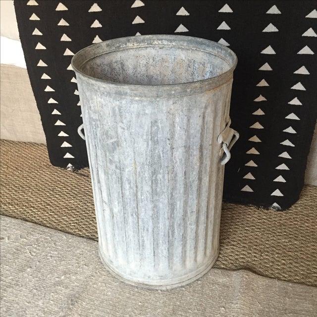 Vintage Galvanized Metal Barrel Bucket - Image 2 of 9