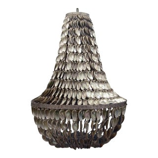 Oly Studio Jenny Antique Silver Shell Chandelier For Sale