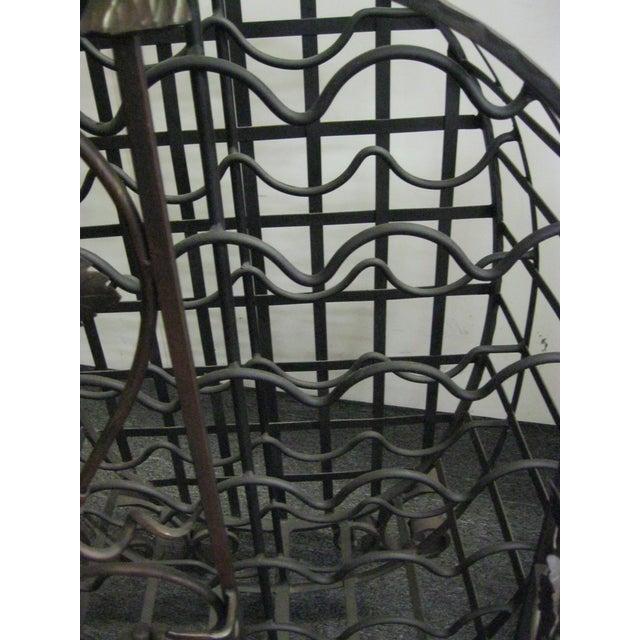 Custom Wrought Iron 24-Bottle Wine Cage - Image 10 of 10
