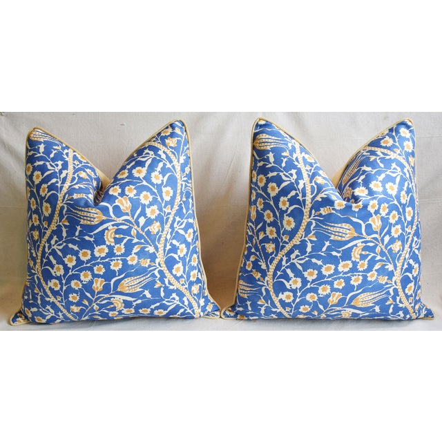 """Clarence House Floral Fabric Feather/Down Pillows 24"""" Square - Pair For Sale In Los Angeles - Image 6 of 13"""