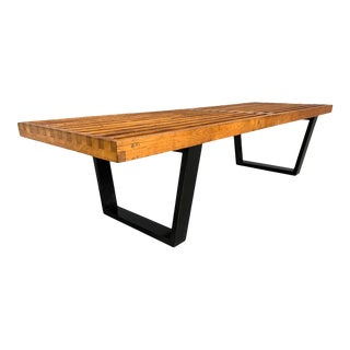 George Nelson Mid-Century Maple Slat Bench for Herman Miller For Sale