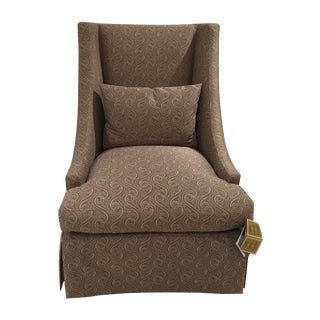 Baker High Back Lounge Chair - Showroom Sample For Sale