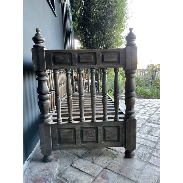Victorian Early 20th Century European Wood Daybed For Sale - Image 3 of 9
