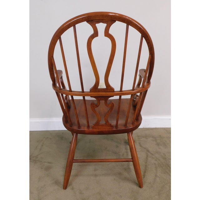 Bob Timberlake Lexington Furniture Set 4 Cherry Windsor Dining Chairs For Sale - Image 11 of 13