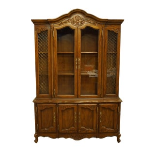 French Style Lighted Display China Cabinet For Sale